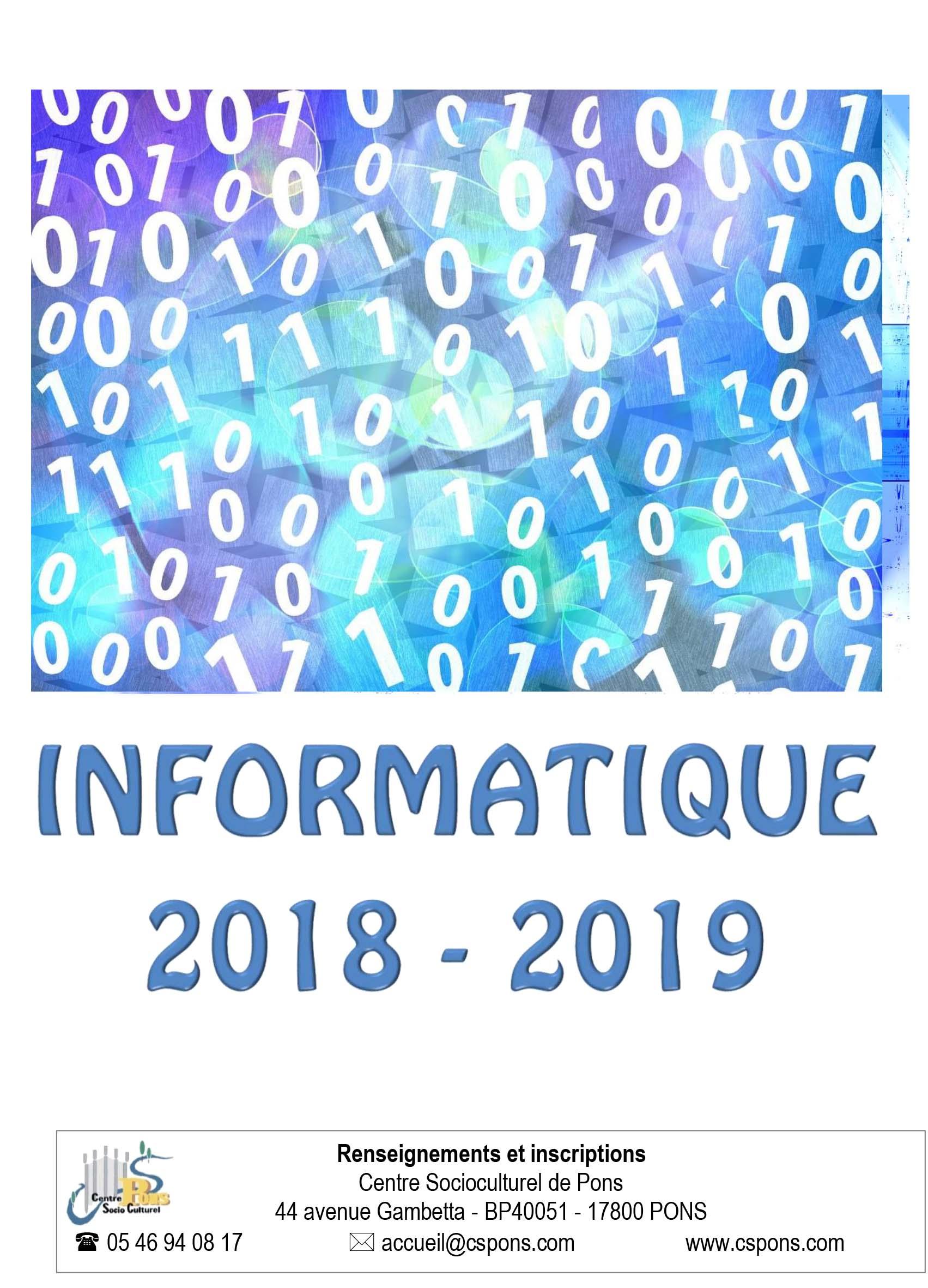 INFORMATIQUE 2019-1