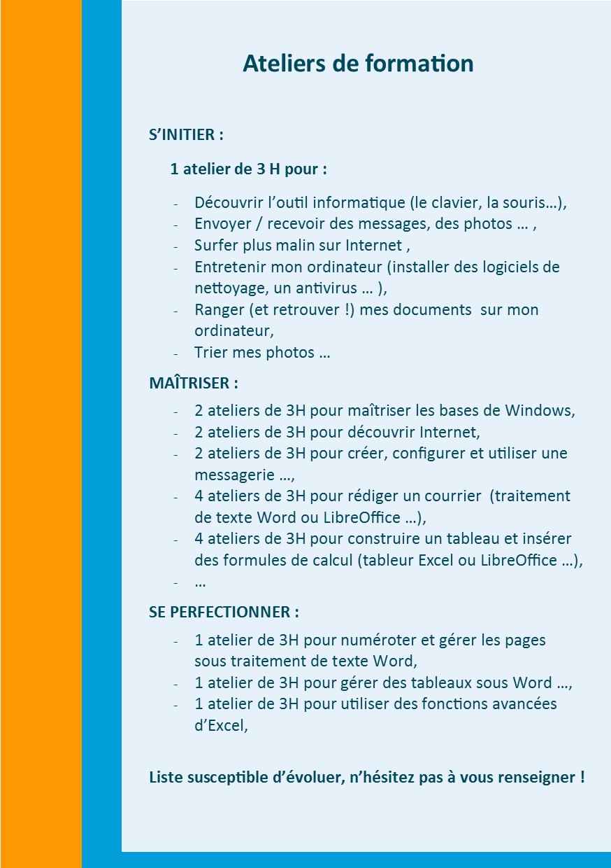 Modules Informatique2